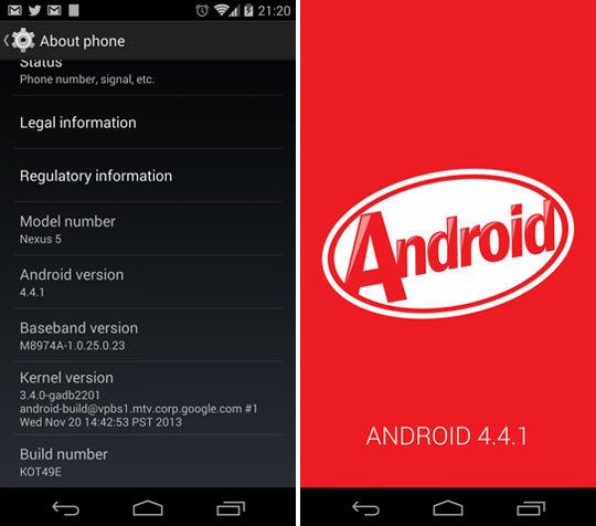 Android 4.4.1 KitKat