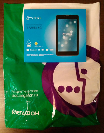 Обзор планшета Oysters T72HM 3G