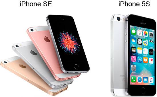 Обзор-сравнение iPhone SE с 5S
